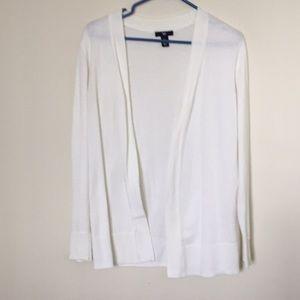 GAP white open cardigan